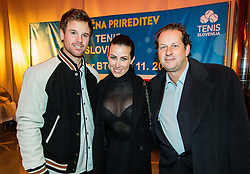 Blaz Kavcic, Karin Lukac and Gregor Vehovec during Slovenian Tennis personality of the year 2017 annual awards presented by Slovene Tennis Association Tenis Slovenija, on November 29, 2017 in Siti Teater, Ljubljana, Slovenia. Photo by Vid Ponikvar / Sportida
