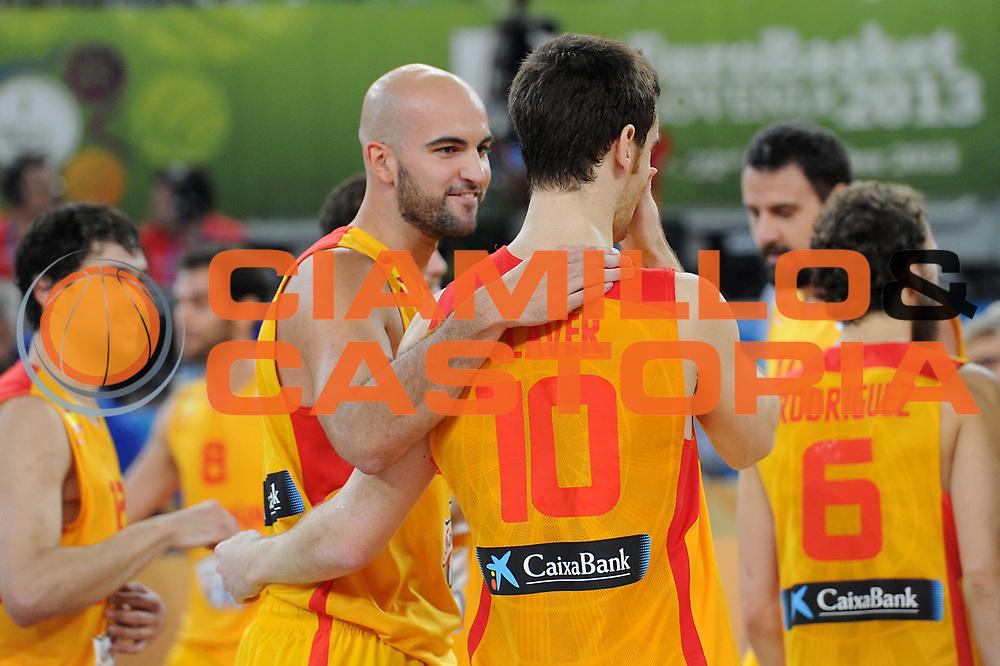 DESCRIZIONE : Lubiana Ljubliana Slovenia Eurobasket Men 2013 Finale Terzo Quarto Posto Spagna Croazia Final for 3rd to 4th place Spain Croatia<br /> GIOCATORE : Team Spagna Team Spain<br /> CATEGORIA : esultanza jubilation<br /> SQUADRA : Spagna Spain<br /> EVENTO : Eurobasket Men 2013<br /> GARA : Spagna Croazia Spain Croatia<br /> DATA : 22/09/2013 <br /> SPORT : Pallacanestro <br /> AUTORE : Agenzia Ciamillo-Castoria/C.De Massis<br /> Galleria : Eurobasket Men 2013<br /> Fotonotizia : Lubiana Ljubliana Slovenia Eurobasket Men 2013 Finale Terzo Quarto Posto Spagna Croazia Final for 3rd to 4th place Spain Croatia<br /> Predefinita :