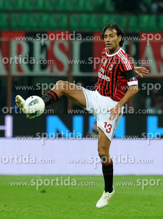 15.10.2011, Giuseppe-Meazza-Stadion, Mailand, ITA, Serie A, AC Mailand vs US Palermo, im Bild Alessandro NESTA (Milan). // during Serie A football match between AC Mailand and US Palermo at Giuseppe Meazza Stadium, Milan, Italy on 15/10/2011. EXPA Pictures © 2011, PhotoCredit: EXPA/ InsideFoto/ Alessandro Sabattini +++++ ATTENTION - FOR AUSTRIA/(AUT), SLOVENIA/(SLO), SERBIA/(SRB), CROATIA/(CRO), SWISS/(SUI) and SWEDEN/(SWE) CLIENT ONLY +++++