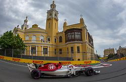April 28, 2018 - Baku, Azerbaijan - Charles Leclerc of Monte-Carlo and Ala Romeo Sauber F1 Team driver goes during the qualifying session at Azerbaijan Formula 1 Grand Prix on Apr 28, 2018 in Baku, Azerbaijan. (Credit Image: © Robert Szaniszlo/NurPhoto via ZUMA Press)