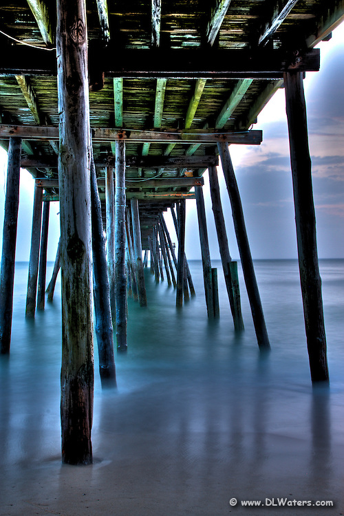 A HDR photograph of Avalon pier in   Kill Devil Hills NC.