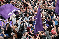March 23, 2019 - Madrid, Spain - Spanish left Podemos party leader Pablo Iglesias arrives to attend a rally in Madrid on 23rd March, 2019. (Credit Image: © Juan Carlos Lucas/NurPhoto via ZUMA Press)