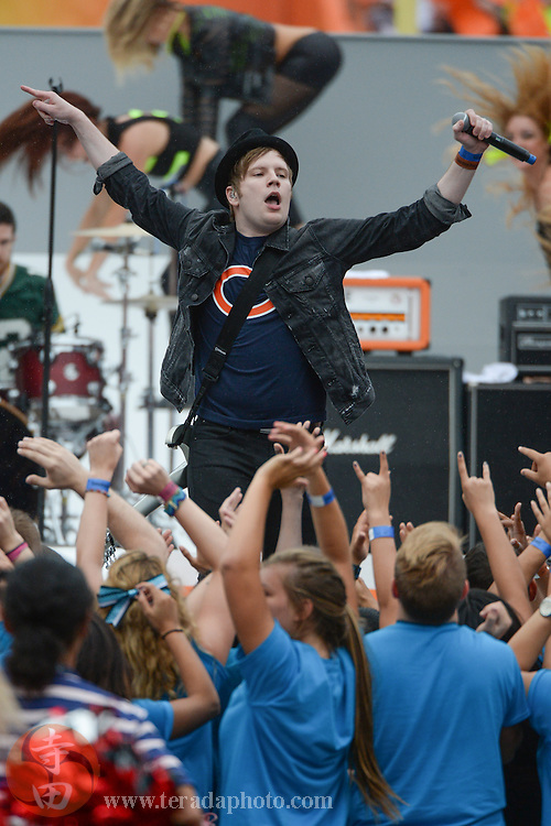 January 26, 2014; Honolulu, HI, USA; Recording artist Fall Out Boy lead singer Patrick Stump performs during halftime of the 2014 Pro Bowl at Aloha Stadium.