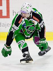 Miha Verlic (HDD Tilia Olimpija, #91) during ice-hockey match between HDD Tilia Olimpija and EHC Liwest Black Wings Linz in 51st Round of EBEL league, on Februar 5, 2012 at Hala Tivoli, Ljubljana, Slovenia. (Photo By Matic Klansek Velej / Sportida)