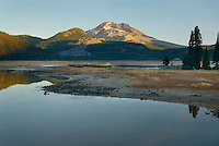 Sparks Lake and South Sister volcano, Willamette National Forest Oregon
