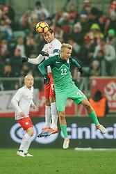 14.11.2016, Stadion Miejski, Wroclaw, POL, Testspiel, Polen vs Slowenien, im Bild GRZEGORZ KRYCHOWIAK, NIK OMLADIC // during the international friendly football match between Poland vs Slovenia at the Stadion Miejski in Wroclaw, Poland on 2016/11/14. EXPA Pictures &copy; 2016, PhotoCredit: EXPA/ Newspix/ Radoslaw Jozwiak<br /> <br /> *****ATTENTION - for AUT, SLO, CRO, SRB, BIH, MAZ, TUR, SUI, SWE, ITA only*****
