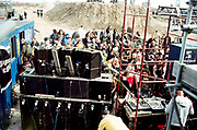 Small rave in an industrial area, Free Party Scene, 1990s