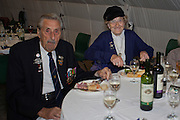 Ted Emmings, Veteran of the Dieppe Raid with his wife Pearl at the 71st Anniversary of the Dieppe Raid held at Newhaven Fort, East Sussex followed by a Memorial Service at the Canadian Memorial at South Way. March of the Standard Bearers and Veterans from Denton Island to the Memorial