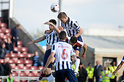 Millwall defender Tony Craig (5) heads the ball during the EFL Sky Bet League 1 match between Northampton Town and Millwall at Sixfields Stadium, Northampton, England on 15 October 2016. Photo by Dennis Goodwin.
