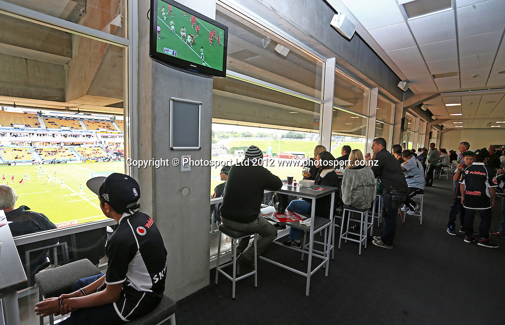 Corporate Hospitality during the NRL game, Vodafone Warriors v Canberra Raiders, Mt Smart Stadium, Auckland, Sunday 2 September  2012. Photo: Simon Watts /photosport.co.nz