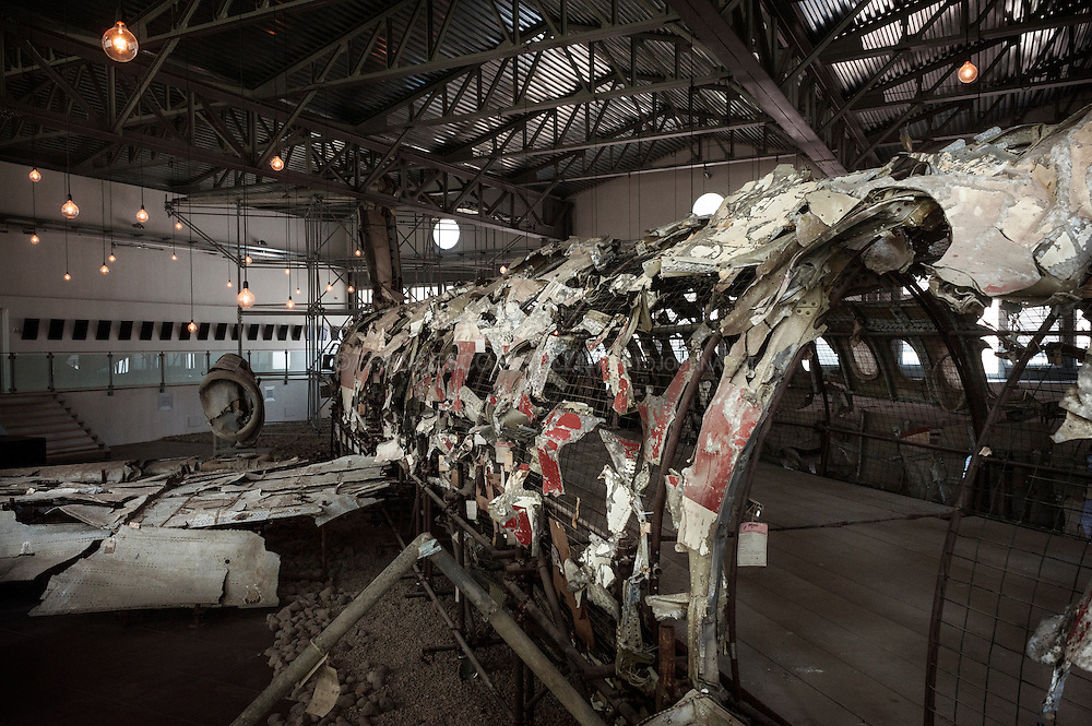 The remains of the Itavia airliner - Museo della Memoria della strage di Ustica, Bologna.