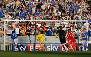 Rochdale fans watch their team attack during the EFL Sky Bet League 1 match between Rochdale and Charlton Athletic at Spotland, Rochdale, England on 5 May 2018. Picture by Paul Thompson.