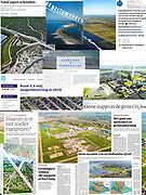 Leveringen luchtfoto's uit archief, compilatie