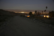 desert edge with city lights in the distance USA Palm Springs