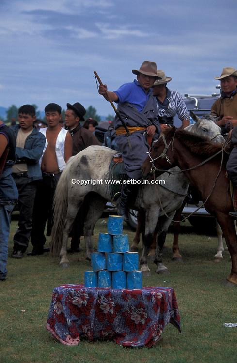Mongolia. horse race. naadam festival in  Khurjit     /course de chevaux . naadam festival in   Khurjit  Mongolie