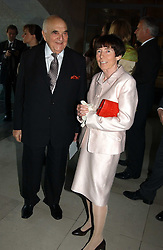 LORD WEIDENFELD and LADY ROTHSCHILD at the opening of 'Princely Splendour; The Dresden Court 1580-1620' a new temporary exhibition at The Gilbert Collection, Somerset House, London sposored by Hubert Bruda Media, The Schroder Family and WestLB AG on 8th June 2005.<br />