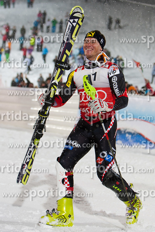 21.12.2011, Hermann Maier Weltcup Strecke, Flachau, AUT, FIS Weltcup Ski Alpin, Herren, Slalom Podium, im Bild v.l.n.r Ivica Kostelic (CRO, Rang 1) // first place Ivica Kostelic of Croatia f.l.t.r. on Podium Slalom of FIS Ski Alpine World Cup at Hermann Maier Pist in Flachau, Austria on 2011/12/21. EXPA Pictures © 2011, PhotoCredit: EXPA/ Johann Groder