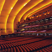 Seating area inside Radio City Music Hall.