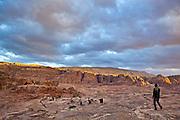 Bedouin shepherd Atala Mohammed herds his goats through the canyons of Petra, Jordan.