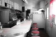 The interior of the abandoned Highway Diner in Winslow, Arizona. Missoula Photographer
