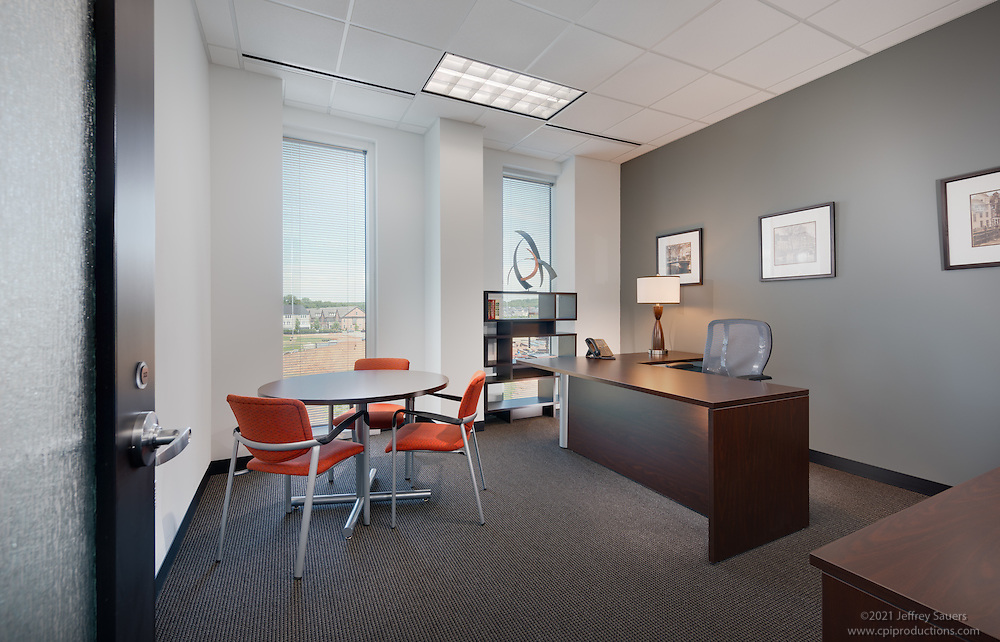 Office interior image of Regus Offices in Maple Lawn Corporate Center in Marylad by Jeffrey Sauers of Commercial Photographics, Architectural Photo Artistry in Washington DC, Virginia to Florida and PA to New England