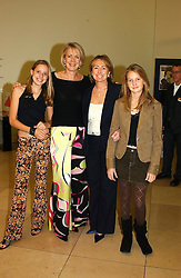 Left to right, MISS CLARISSA AGNEW her mother MRS JONATHAN AGNEW, MRS MICHAEL SPENCER and her daughter MISS ALEXANDRA SPENCER at the Depal Trust 2in1 Art Party at The National Portrait Gallery, London on 25th October 2004.<br /><br /><br /><br />NON EXCLUSIVE - WORLD RIGHTS