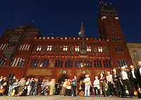 BASEL, Fussball, Euro 2008 Vorschau, Staedte, Basel,Das Basler Rathaus das von Ruman Faesch 1504-1521 in burgundischer Spaetgotik erbaut wurde ,Foto:Pressefoto Ulmer/Schaadfoto/Andreas Schaad PUBLICATION NOT IN AUT