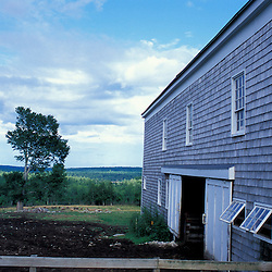 New Gloucester, ME.The barnyard at the Sabbathday Lake Shaker Village.