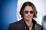 Johnny Depp arriving at the Dark Shadows premiere in 2012 in Los Angeles, CA.