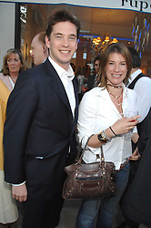 The HON.JAMES TOLLEMACHE and the HON.SELINA TOLLEMACHE at the launch of The Rupert Lund Showroom, 61 Chelsea Manor Street, London SW3 on 2nd May 2007.<br />