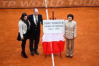 Inauguration court Prince Rainier III par le Prince  Albert - 19.04.2015 - Tournoi de Monte Carlo 2015 - Masters 1000 <br />Photo : Serge Haouzi / Icon Sport
