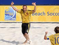 FIFA BEACH SOCCER WORLD CUP 2008 ARGENTINA - SPAIN  24.07.2008 NICO (ESP) celebrates his goal.