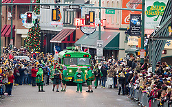 Beale Street was filled with West Virginia fans as parades and pep rallies filled the downtown area on Sunday night.