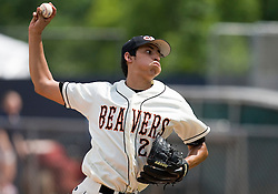 Oregon State Beavers P Jorge Reyes (23).  The Oregon State Beavers defeated the Rutgers Scarlet Knights 5-2 in Game 5 of the NCAA World Series Charlottesville Regional held at Davenport Field in Charlottesville, VA on June 4, 2007.
