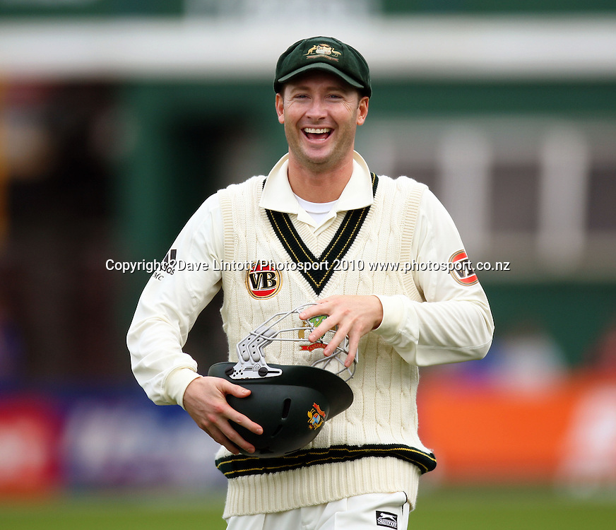 Australian vice-captain Michael Clarke.<br /> 1st cricket test match - New Zealand Black Caps v Australia, day two at the Basin Reserve, Wellington.Saturday, 20 March 2010. Photo: Dave Lintott/PHOTOSPORT