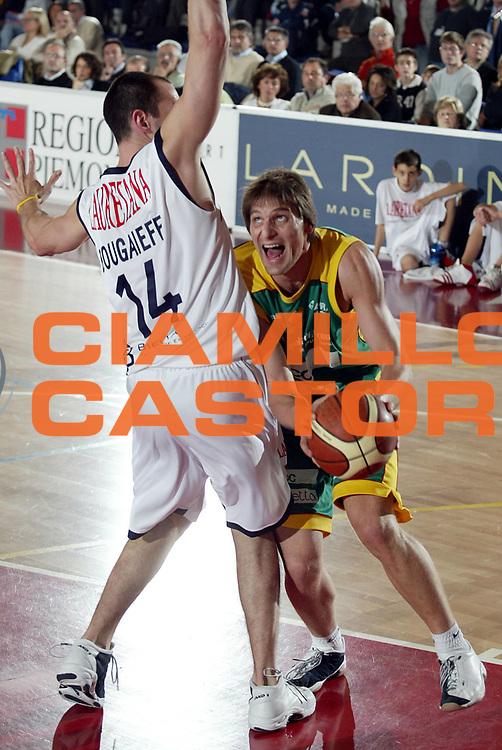 DESCRIZIONE : BIELLA CAMPIONATO LEGA A1 2004-2005<br />GIOCATORE : JURAK<br />SQUADRA : SICC JESI<br />EVENTO : CAMPIONATO LEGA A1 2004-2005<br />GARA : LAURETANA BIELLA-SICC JESI<br />DATA : 05/12/2004<br />CATEGORIA : Penetrazione<br />SPORT : Pallacanestro<br />AUTORE : AGENZIA CIAMILLO &amp; CASTORIA/S.Ceretti