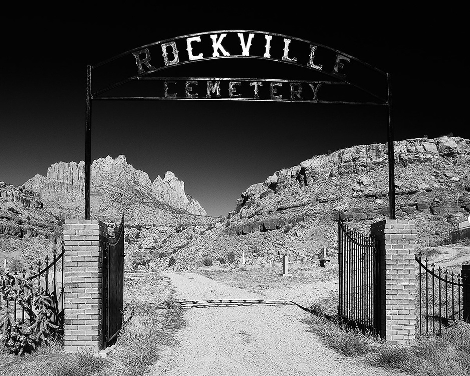 Entrance to the Rockville Cemetery in Rockville, Utah.