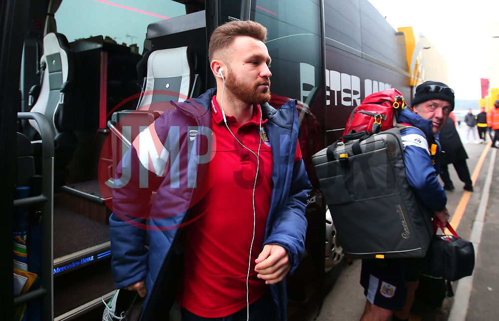 Matty Taylor of Bristol City arrives at Vicarage Road for the FA Cup third round tie against Watford  - Mandatory by-line: Robbie Stephenson/JMP - 06/01/2018 - FOOTBALL - Vicarage Road - Watford, England - Watford v Bristol City - Emirates FA Cup third round proper