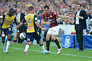 21.04.2013 Sydney, Australia. Mark Bridge in action during the Hyundai A League grand final game between Western Sydney Wanderers FC and Central Coast Mariners FC from the Allianz Stadium.Central Coast Mariners won 2-0.