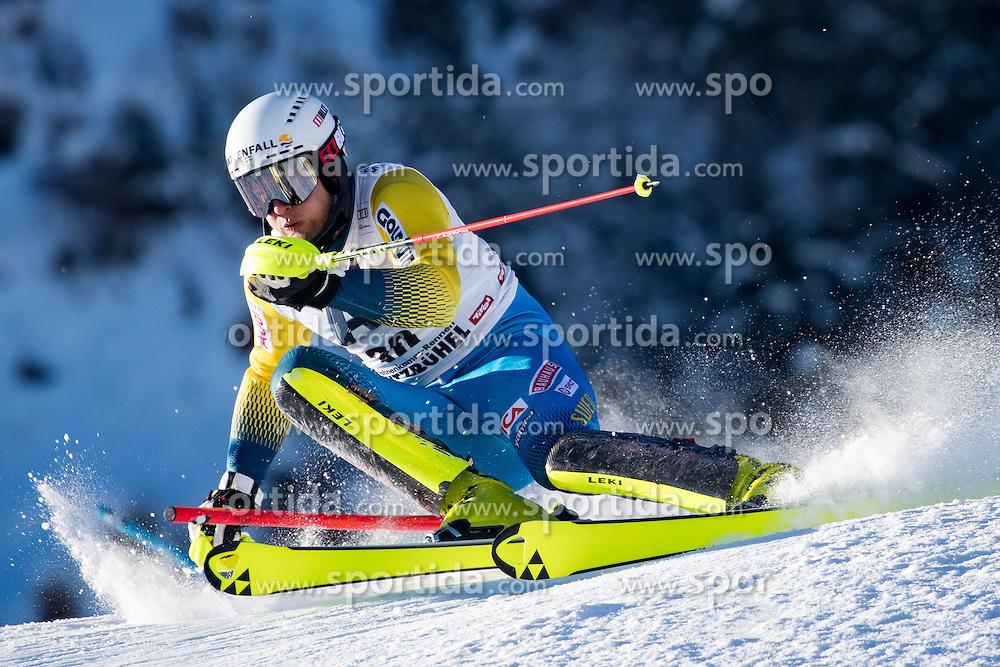 22.01.2017, Hahnenkamm, Kitzbühel, AUT, FIS Weltcup Ski Alpin, Kitzbuehel, Slalom, Herren, 1. Lauf, im Bild Anton Lahdenperae (SWE) // Anton Lahdenperae of Sweden in action during his 1st run of men's Slalom of FIS ski alpine world cup at the Hahnenkamm in Kitzbühel, Austria on 2017/01/22. EXPA Pictures © 2017, PhotoCredit: EXPA/ Johann Groder