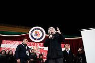 Torre del Greco, Italia - Beppe Grillo, leader del Movimento Cinque Stelle, durante il suo intervento ad un comizio a Torre del Greco in provincia di Napoli.<br /> Ph. Roberto Salomone