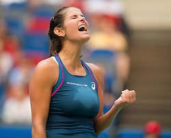 September 23, 2018 - Julia Goerges of Germany in action during her first-round match at the 2018 Dongfeng Motor Wuhan Open WTA Premier 5 tennis tournament (Credit Image: © AFP7 via ZUMA Wire)