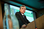 UNISON sponsored 'School Support Staff Seminar' held at The King's Fund, London. Photo shows UNISON General Secretary, Dave Prentis speaking.