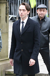© Licensed to London News Pictures . 18/03/2016 . Manchester , UK . Actor David Dawson arrives at the service. Television stars and members of the public attend the funeral of Coronation Street creator Tony Warren at Manchester Cathedral . Photo credit : Joel Goodman/LNP