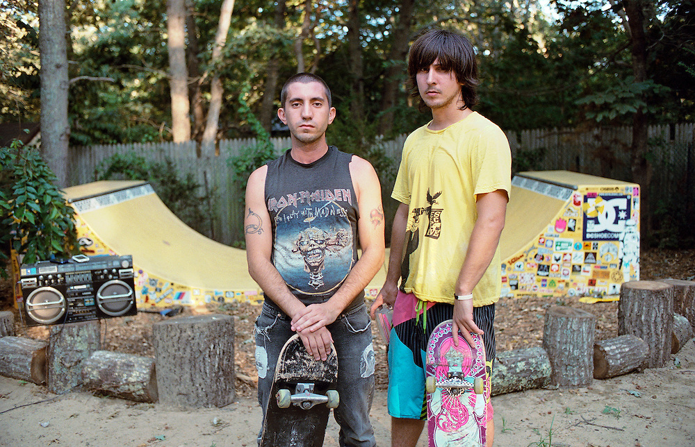 Victor and JC have been friends since childhood.  Victor's family moved to Springs when he was in elementary school from Brooklyn because they felt it was a better place to raise a child.  He recently graduated from SUNY Stony Brook with a MFA in creative writing and still lives in Springs making art and writing.  JC's parents settled in Springs after coming to Montauk for 17 years to work at Gurney's Inn in Montauk.  JC lives in Brooklyn with his wife where he works as a graphic designer.  The skate ramp is located at JC's parents house in Springs. Bonac by Tara Israel