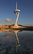 Olympic Ring (Anella Olimpica) and Montjuic Telecommunications Tower, 1991, Santiago Calatrava, Barcelona, Spain. Picture by Manuel Cohen