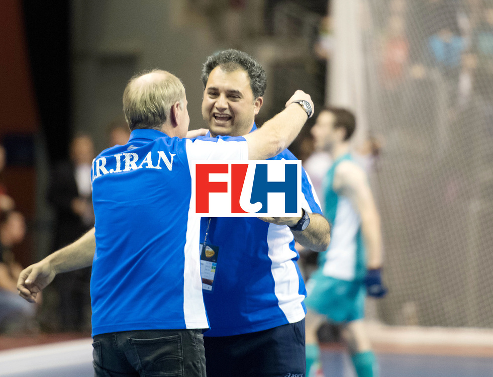 BERLIN - Indoor Hockey World Cup<br /> Bronze: Iran - Australia<br /> foto: SCHMITZ Michael and SAFAEI Esfandyar<br /> WORLDSPORTPICS COPYRIGHT FRANK UIJLENBROEK