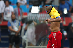 June 23, 2018 - Moscou, Rússia - MOSCOU, MO - 23.06.2018: BÉLGICA Y TÚNEZ - Wahbi KHAZRI of Tunisia wears the shirt of Belgium during the match between Belgium and Tunisia valid for the 2018 World Cup held at the Otkrytie Arena in Moscow, Russia. (Credit Image: © Rodolfo Buhrer/Fotoarena via ZUMA Press)