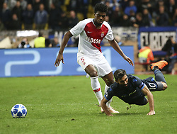 FONTVIEILLE, Nov. 7, 2018  Rezaei Kaveh (R) of Brugge vies with Jemerson of Monaco during the UEFA Champions League group A match between Monaco and Club Brugge in Fontvieille, Monaco on Nov. 6, 2018. Brugge won 4-0. (Credit Image: © Serge Haouzi/Xinhua via ZUMA Wire)