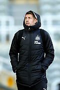 Florian Lejeune (#20) of Newcastle United arrives ahead of the Premier League match between Newcastle United and Southampton at St. James's Park, Newcastle, England on 8 December 2019.